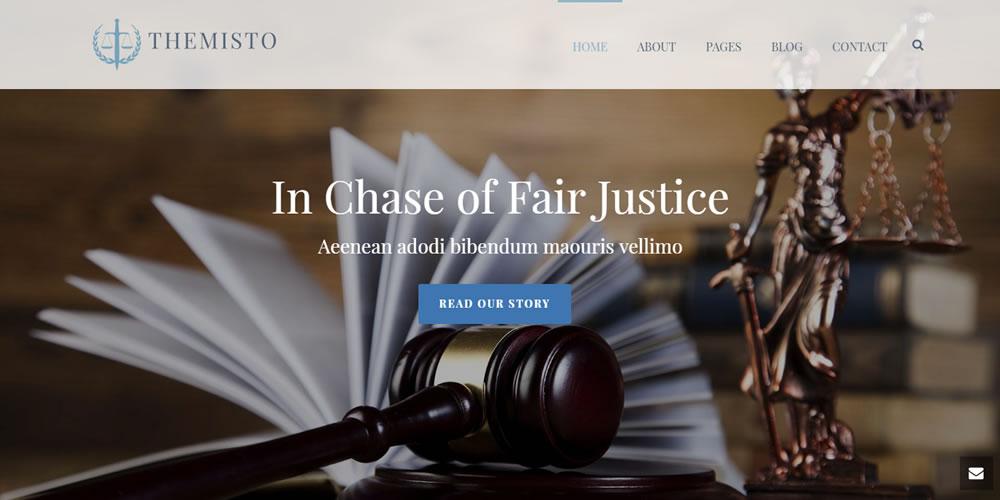 Legal Website Template - Themisto
