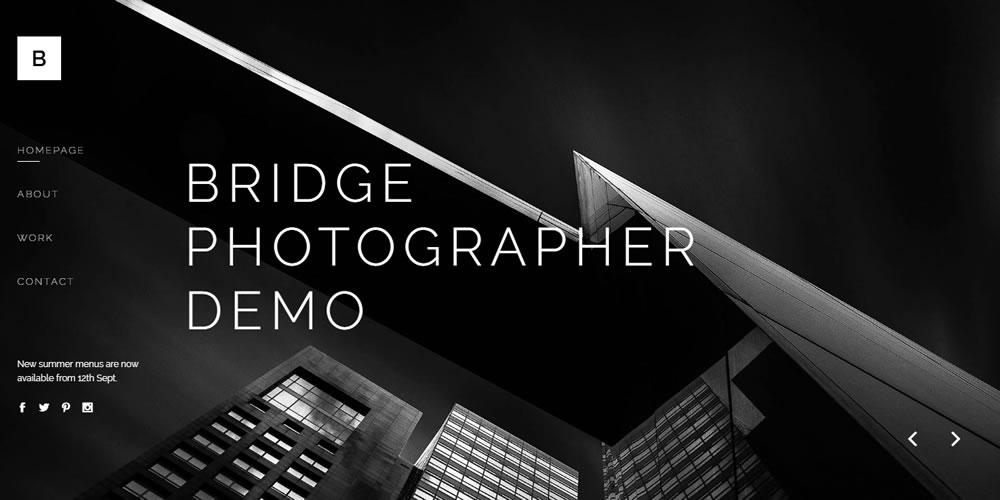 Photography Website Template - Bridge