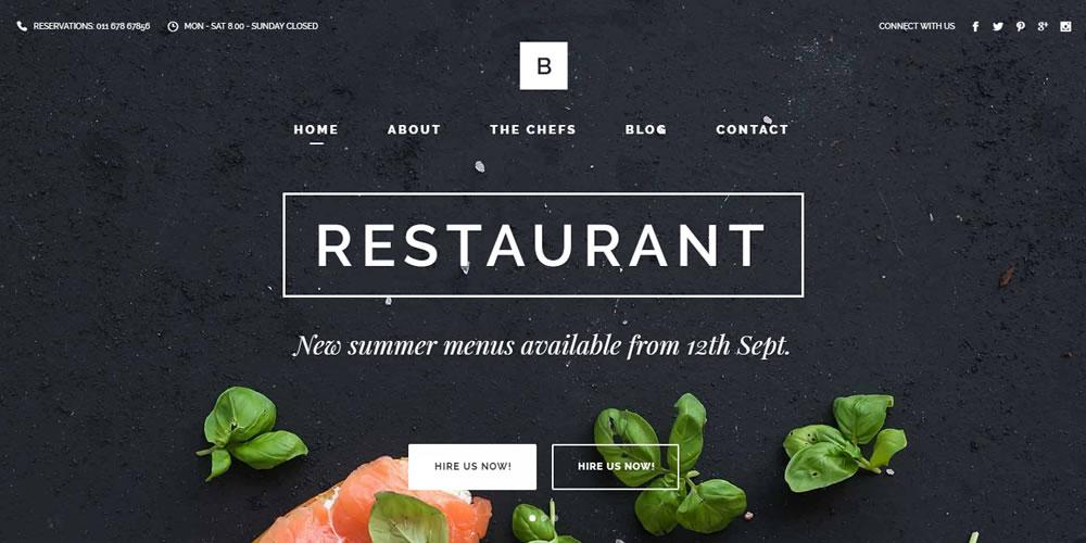 Restaurant & Food Website Template - Bridge